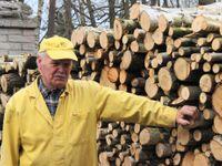 Dřevorubcem na plný úvazek. Je mu 73 a důchod neřeší