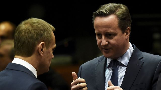 Donald Tusk a David Cameron
