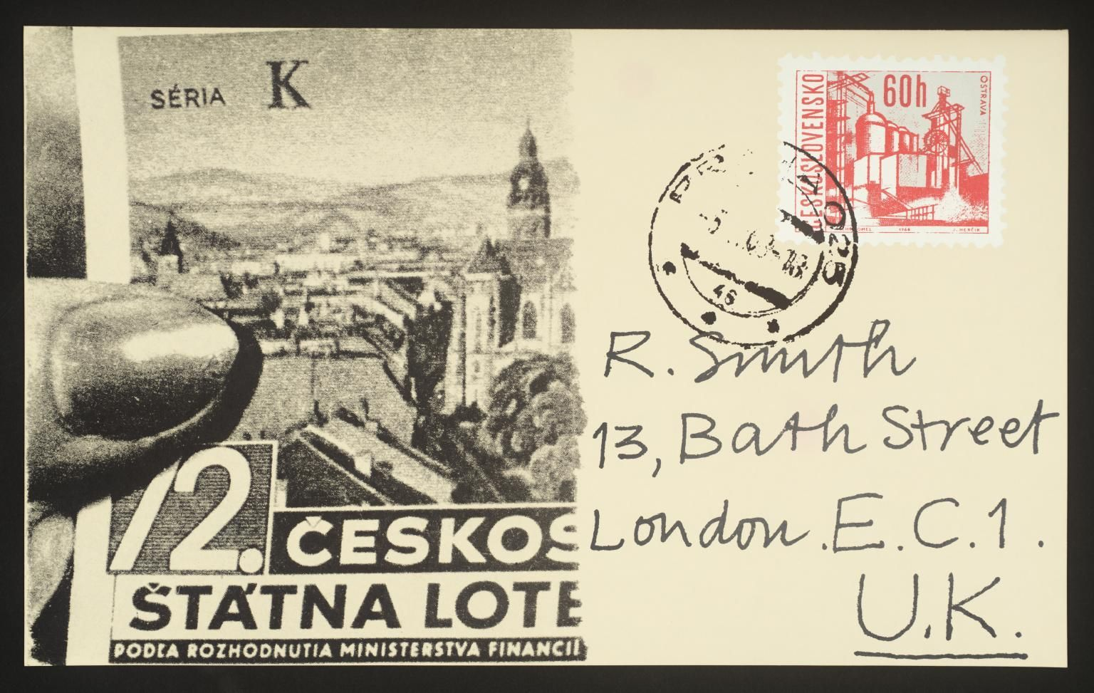 Joe Tilson: Prague Postcard, 1969 až 1970