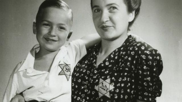 Gertruda Zelenková with son Martin in early 1940s