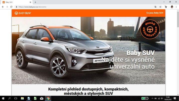 Nový web Baby SUV je rádcem pro všechny, kteří si chtějí pořídit univerzální auto