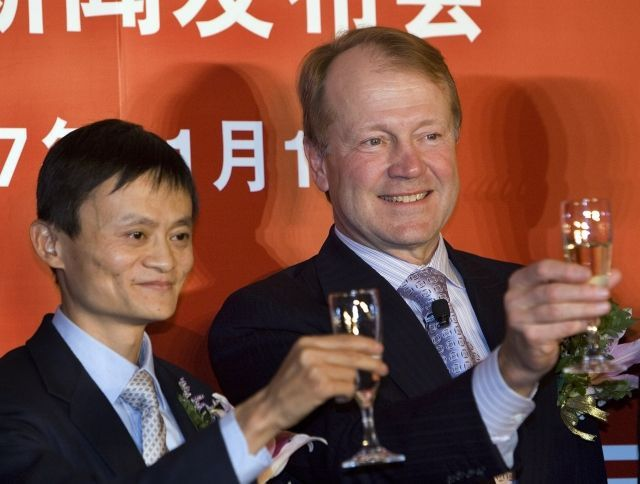 John Chambers (Cisco) a Jack Ma (Alibaba Group)