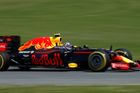 Red Bull F1 driver Max Verstappen drives during the third free practice