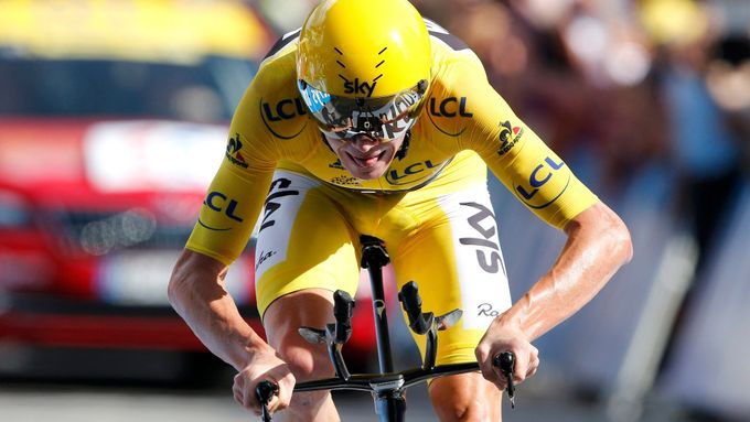 Chris Froome při Tour de France