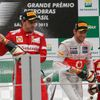 Fernando Alonso, Jenson Button a Felipe Massa