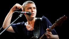 Irish singer Sinead O'Connor performs on stage during the Positivus music festival in Salacgriva