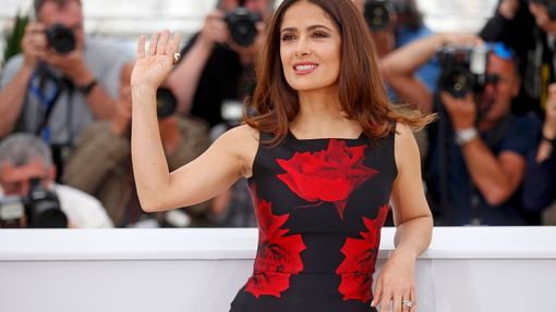 "Cast member Salma Hayek poses during a photocall for the film ""Tale of Tales"" in competition at the 68th Cannes Film Festival in Cannes"