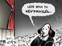 Kresba: Rok 1604. Shakespeare uchvácen novým nastudováním svého Brexitu