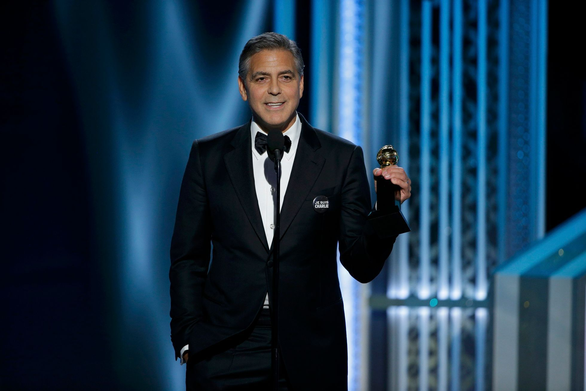 Actor George Clooney accepts the Cecile B. DeMille Award at the 72nd Golden Globe Awards in Beverly Hills
