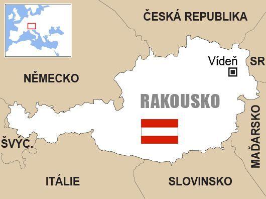 Výsledek obrázku pro rakousko mapa