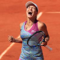 Julia Putincevová na French Open 2018