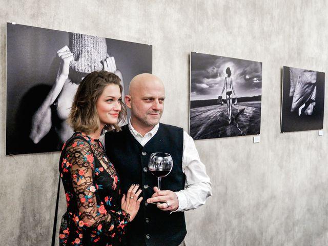 Actor and photographer Hynek Čermák at the inauguration of the exhibition Nik On Akt.