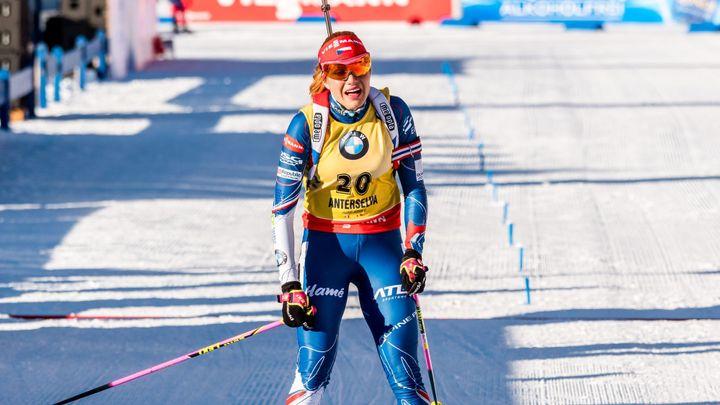 Živě: Koukalová jede v posledním běžeckém okruhu o své první vítězství v Anterselvě