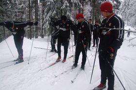 09d09d50e3c Obrazem  Slávisté vyrazili v Krkonoších na běžky
