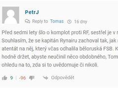 Komentář Petra J. kvůli kterému mu byl zakázán přístup do diskuze na Zdopravy.cz