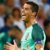 Portugal's Cristiano Ronaldo celebrates at the end of the match