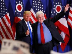 Donald Trump a Newt Gingrich