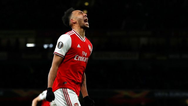 Soccer Football - Europa League - Round of 32 Second Leg - Arsenal v Olympiacos - Emirates Stadium, London, Britain - February 27, 2020  Arsenal's Pierre-Emerick Aubameya