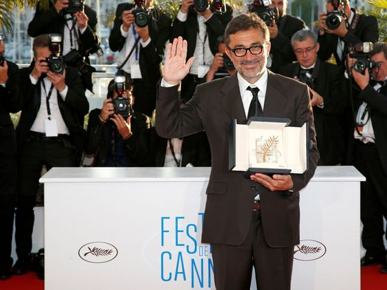 "Director Nuri Bilge Ceylan, Palme d'Or award winner for his film ""Winter Sleep"", poses during a photocall at the closing ceremony of the 67th Cannes Film Festival in Cannes"