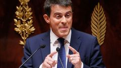 French Prime Minister Manuel Valls delivers his general policy speech at the National Assembly in Paris