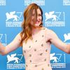 "Hahn poses during the photo call for the movie ""She's Funny That Way"" at the 71st Venice Film Festival"