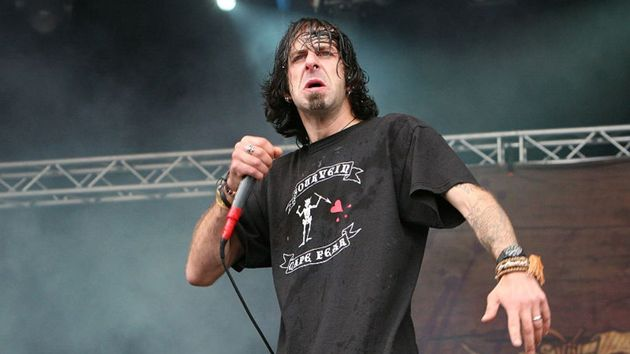 Zpěvák kapely Lamb of God Randy Blythe.
