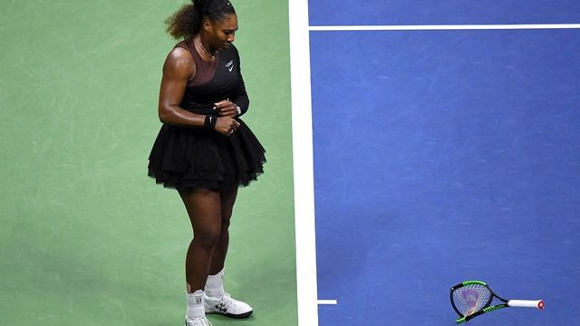 Video: Serena Williamsová ve finále US Open 2018