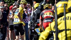 Tour de France 2016, 12. etapa: běžící Chris Froome