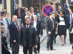 Even Michelle Obama is constantly surrounded by bodyguards