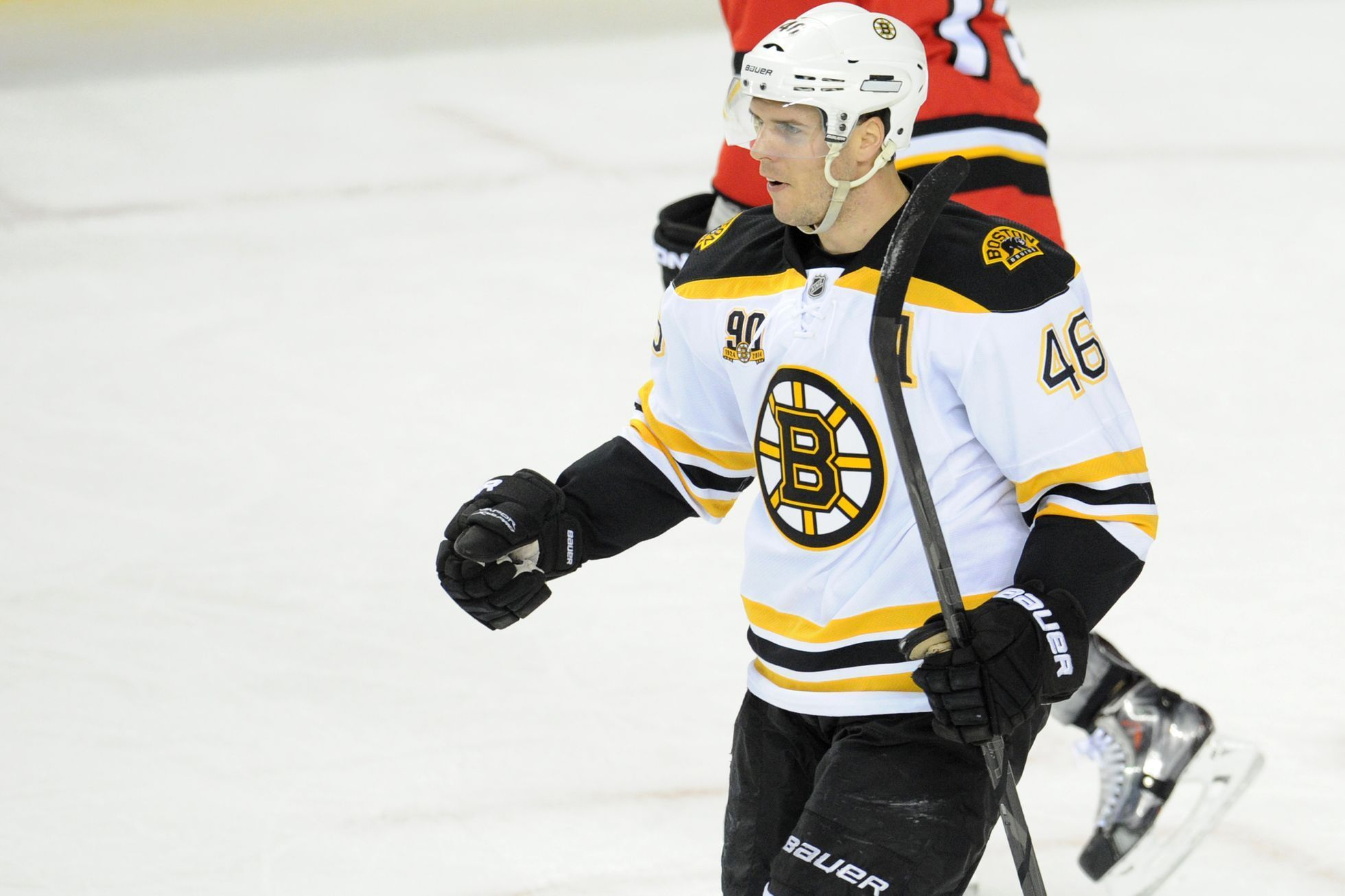 NHL: Boston Bruins proti Calgary Flames (David Krejčí)