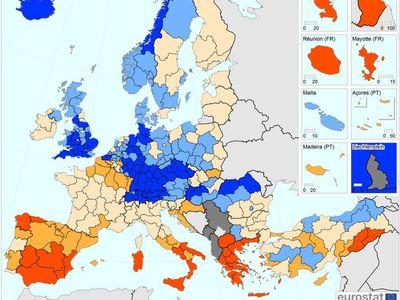 Kde je nejvíc lidí bez práce? Nová mapa řadí Česko k nejlepším místům v Evropě