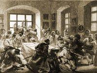 Pražská defenestrace. Vyhození místodržících z okna spustilo před 400 lety třicetiletou válku