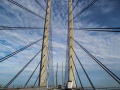 Most přes öresundskou úžinu spojující dánskou Kodaň se švédským Malmö.