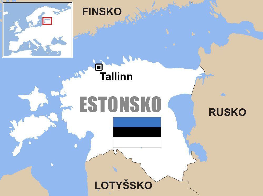 Mapa Estonsko Mapa