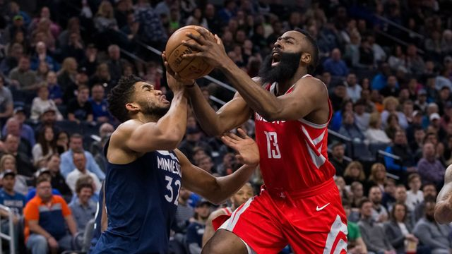 Karl-Anthony Towns a James Harden