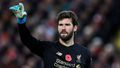 Alisson v zápase Premier League Liverpool - Manchester City