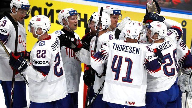 1f1180981993d Norská radost | Foto: Reuters. Hokejisté Norska zdolali na mistrovství světa  ...