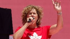 Three-time rowing gold-medallist Marnie McBean is named Canada's Olympic chef de mission for the Tokyo 2020 Summer Games  during Canada Day festivities on Parliament Hill in Ottawa
