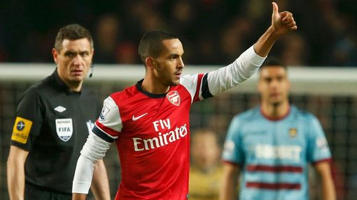 Premier League, Arsenal - West Ham: Theo Walcott