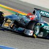 Testy F1 ve Valencii: Schumacher