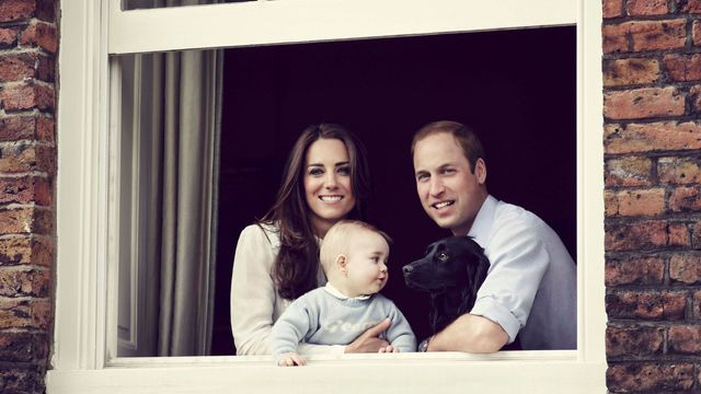 Catherine, William, George a pes Lupo