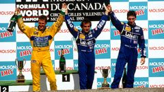 F1 1993, VC Kanady:  Michael Schumacher, Benetton; Alain Prost, Williams a Damon Hill, Williams