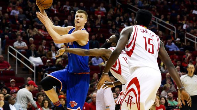 NBA: New York Knicks at Houston Rockets (Kristaps Porzingis)