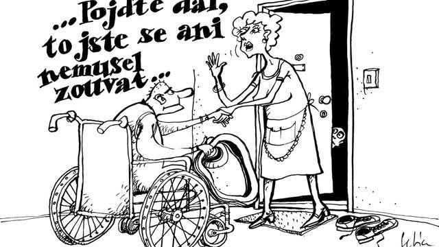 Vystava Kapely The Tap Tap Cerny Humor Urazejici Vozickare