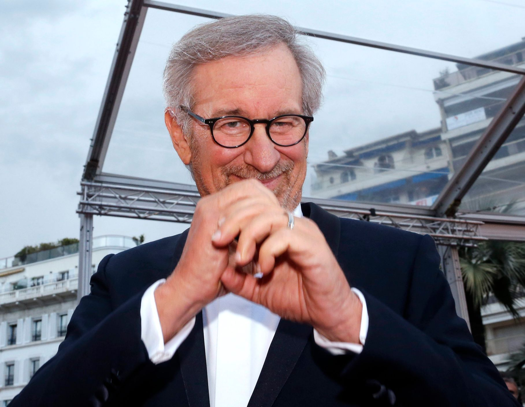 "Director Steven Spielberg arrives for the screening of the film ""Inside Llewyn Davis"" at 66th Cannes Film Festival"