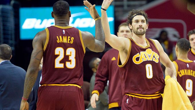 Lebron James a Kevin Love