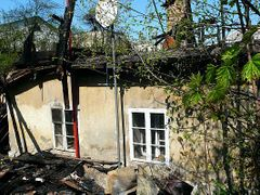 Kudrik's house was set on fire by unknown aggressors.