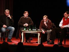 Twenty years after - not long ago a group of Velvet Revolution key figures met up in Prague's theatre Na zábradlí