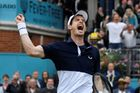 Andy Murray na turnaji v Queen's Clubu