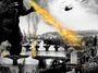 Kresba: Praha ve spárech Godzilly: mosty padají, domy se kácí